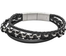 Vintage Casual Armband schwarz/silber
