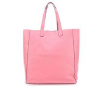 Calf Adria Doubleface Reversible Shopper rosa