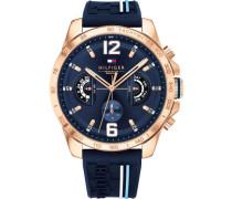 Cool Sport Chronograph roségold/blau