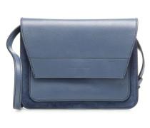 Sandy Bimaterial Umhängetasche blau