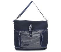Qukoo Nylon Ho Beau Handtasche blau metallic