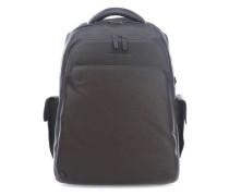 Black Square Laptop-Rucksack 15″ dunkelbraun