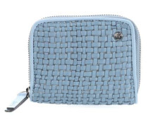 Goat Mini Weave Geldbörse hellblau