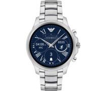 Smartwatch silber/blau