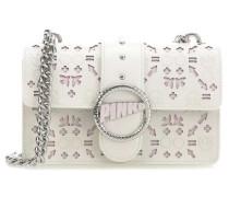 Mini Love Laser Schultertasche pink/weiß
