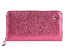 Calf Shimmer Geldbörse metallic pink