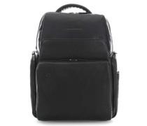 Black Square Laptop-Rucksack 15.6″ schwarz