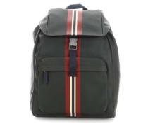 Block Stripe Rucksack 17″ dunkelgrün