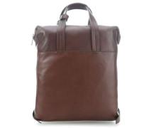 Die Zeit 17 Rucksack-Tasche 14″ schokolade