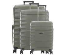 Highlight 4-Rollen Trolley Set khaki