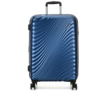 Jetglam 4-Rollen Trolley blau metallic