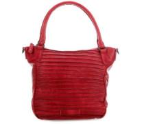 Riffelherzchen Handtasche rot