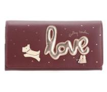 Love Is In The Air Geldbörse bordeaux