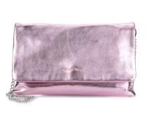 Small Clutch Schultertasche metallic pink