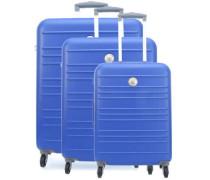 Carlit 4-Rollen Trolley Set blau 3-tlg.