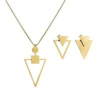 Set Halskette gold