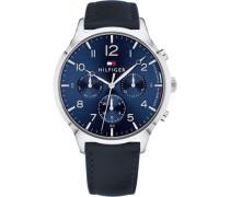 Casual Sport Chronograph silber/blau