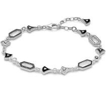 Asiatische Ornamente Armband silber/schwarz