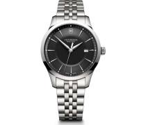 Alliance Schweizer Uhr silber/schwarz