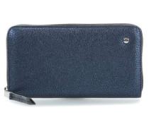 Calf Shimmer Geldbörse blau metallic