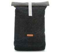 Original Hajo Rolltop Rucksack 15″ schwarz/grau