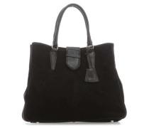 Suede Handtasche schwarz