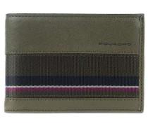 Black Square RFID Geldbörse olivgrün
