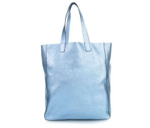 Calf Shimmer Shopper blau metallic