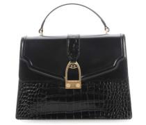 Portena Croco Handtasche schwarz