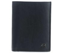 Black Square RFID Geldbörse dunkelblau