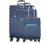 Madeira 4-Rollen Trolley Set blau
