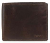Set RFID Geldbörse dunkelbraun