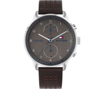 Casual Chronograph silber