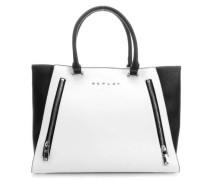 Handtasche schwarz/weiß