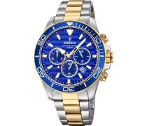 Prestige Chronograph silber/blau