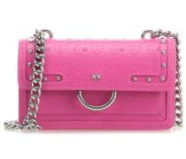 Mini Love Monogram Schultertasche pink