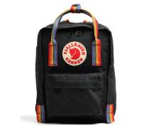 Kånken Rainbow Mini Rucksack schwarz