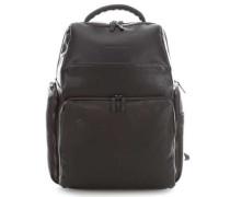 Black Square Laptop-Rucksack 15.6″ dunkelbraun