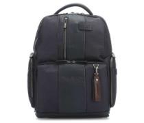 Brief Laptop-Rucksack 15.6″ blau/schwarz