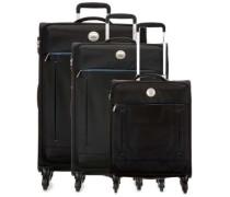 Banjul 4-Rollen Trolley Set schwarz