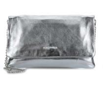 Small Clutch Schultertasche silber metallic