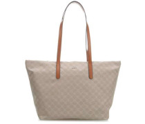 Nylon Cornflower Helena Shopper beige