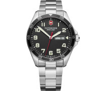 FieldForce Swiss Army Quarzuhr silber/schwarz