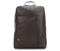 Laptop-Rucksack 15″ dunkelbraun