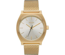 Time Teller Milanese Quarzuhr gold