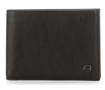 Black Square RFID Geldbörse schwarz