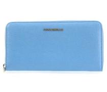Metallic Saffiano Geldbörse blau