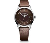 Alliance Schweizer Uhr silber/braun