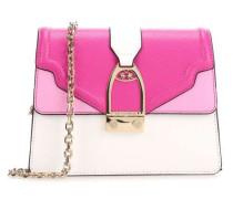 Portena Schultertasche pink/weiß