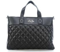Super Quilted Handtasche schwarz
